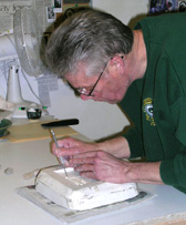 Detailing a plaster mold